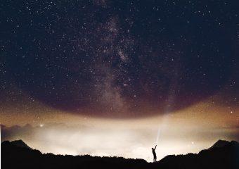 kosmosy baner tło